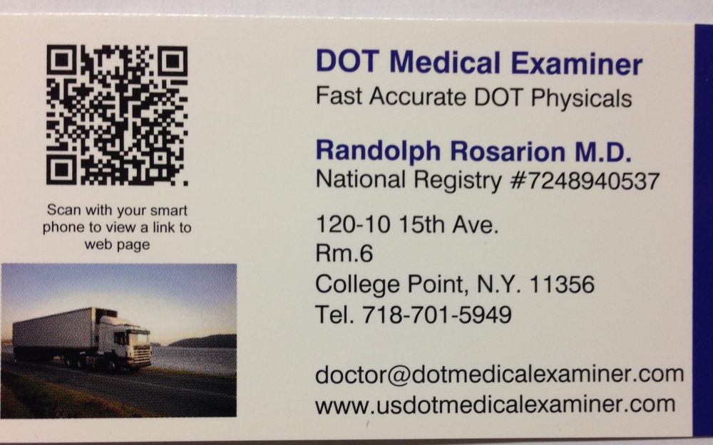 DOT Physical Exam - Driver Qualification Requirements (1/2)